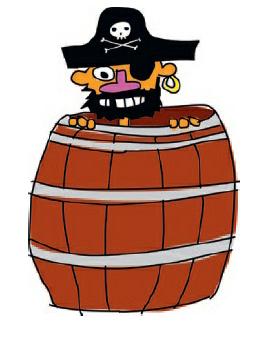 Fig 2.2.2. ilustrasi bajak laut dalam tong
