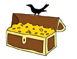 Fig 2.6.4. gagak mencuri koin emas